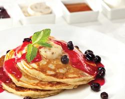 Blueberry and Yuzu Soba Pancakes - Innovative Japanese Dishes Delivered at Nobu Hotel